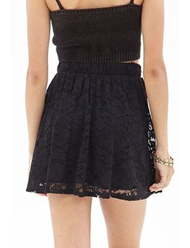 floral-lace-skater-skirt by forever-21