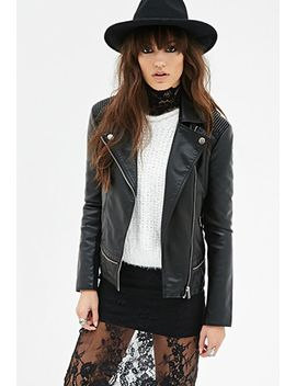 faux-leather-bomber-jacket by forever-21