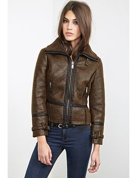 faux-shearling-aviator-jacket by forever-21