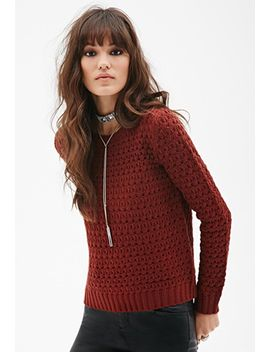 open-knit-crew-neck-sweater by forever-21
