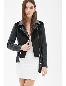 faux-fur-moto-jacket by forever-21