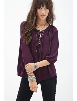 self-tie-peasant-top by forever-21