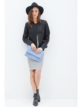 faux-leather-peplum-jacket by forever-21