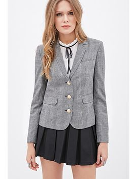 contemporary-glen-plaid-blazer by forever-21