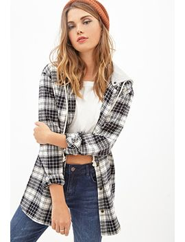 hooded-plaid-flannel by forever-21