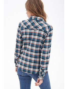 woven-plaid-flannel by forever-21