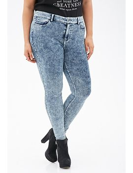 mineral-wash-skinny-jeans by forever-21