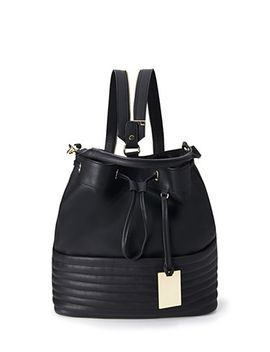 ribbed-faux-leather-backpack by forever-21