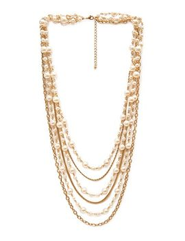 layered-faux-pearl-necklace by forever-21