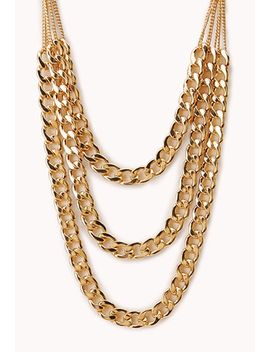 underground-layered-chain-necklace by forever-21