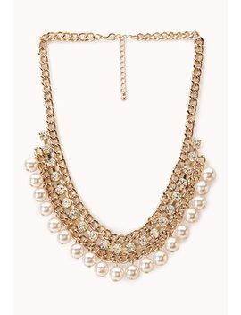 luxe-faux-pearl-&-rhinestone-necklace by forever-21