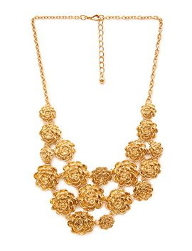 cascading-bloom-bib-necklace by forever-21