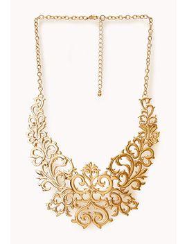 regal-damask-bib-necklace by forever-21