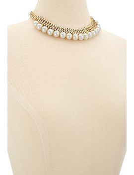 faux-pearl-choker-necklace by forever-21