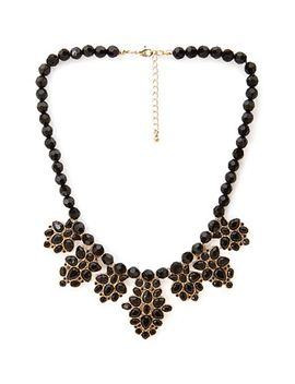 beaded-faux-gemstone-necklace by forever-21