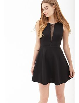 lace-cutout-skater-dress by forever-21