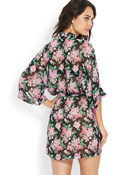 floral-chiffon-robe by forever-21