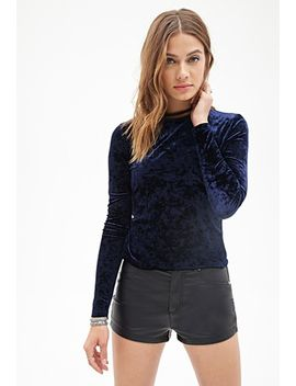 crushed-velveteen-knit-top by forever-21