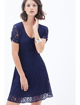 floral-lace-a-line-dress by forever-21