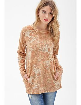 oversized-rose-print-sweater by forever-21