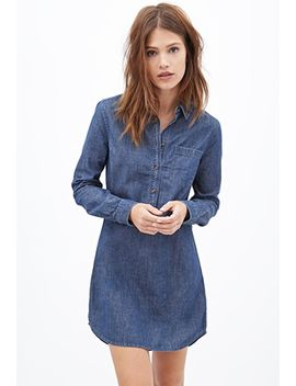 chambray-shirt-dress by forever-21