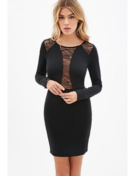 lace-paneled-bodycon-dress by forever-21