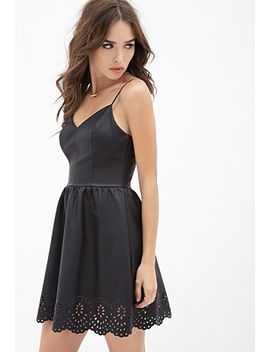 laser-cut-faux-leather-dress by forever-21