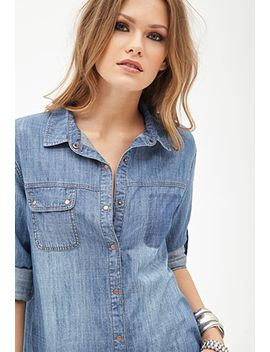 button-down-denim-shirt by forever-21