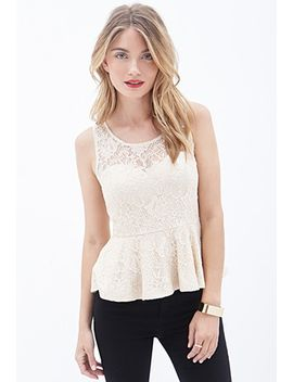 contemporary-sleeveless-lace-peplum-top by forever-21