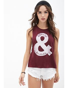 beauty-&-brains-muscle-tee by forever-21