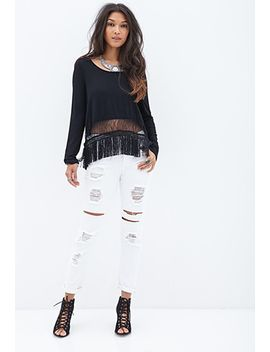 fringed-lace-top by forever-21