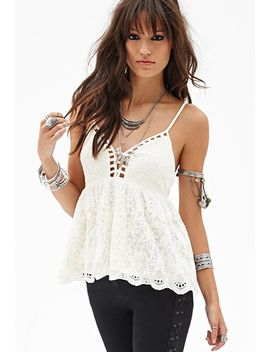 crocheted-babydoll-cami by forever-21