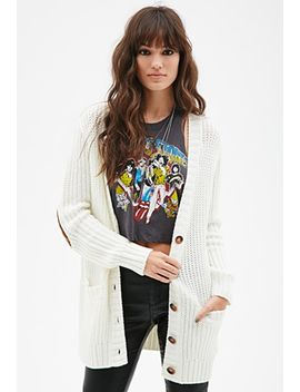 chunky-knit-v-neck-cardigan by forever-21