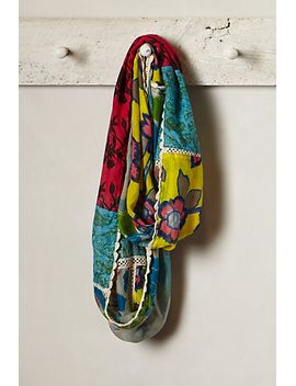 floral-patchwork-infinity-scarf by anthropologie