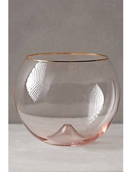 gilded-rim-stemless-glass by anthropologie