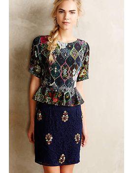 narcis-embellished-peplum-dress by hemant-&-nandita