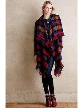 tartan-blanket-coat by hei-hei