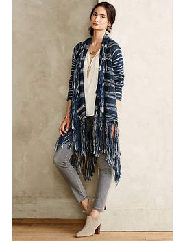 fringed-ombre-cardigan by anthropologie