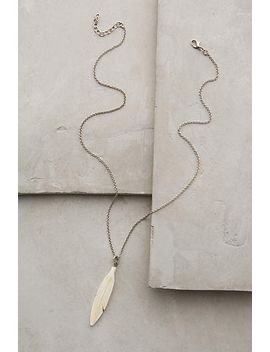 ceramic-feather-pendant-necklace by anthropologie