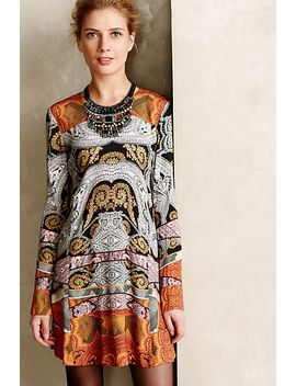 graphic-paisley-swing-dress by anthropologie