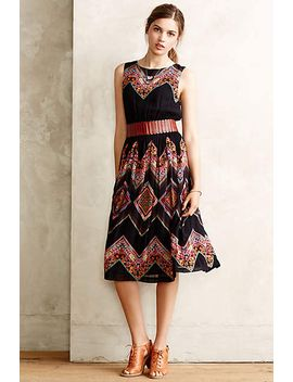 patchworked-chevron-midi-dress by tanvi-kedia