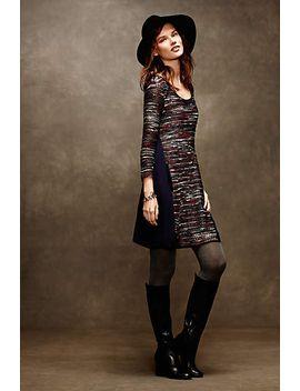 marled-stripe-swing-dress by anthropologie