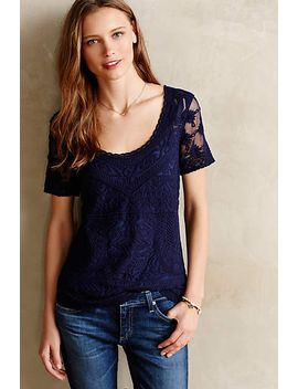 embroidered-mesh-tee by meadow-rue