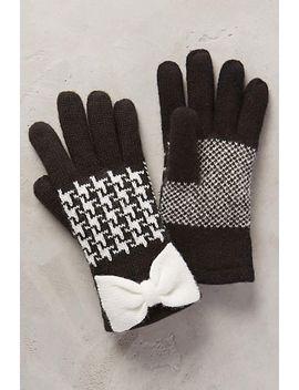 herringbone-bow-gloves by anthropologie