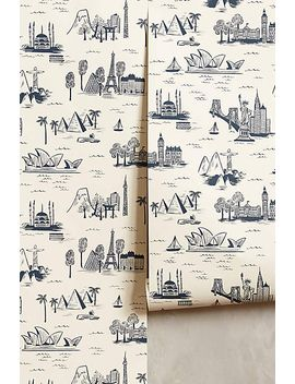 cities-toile-wallpaper by anthropologie
