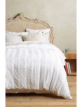 textured-chevron-duvet-cover by anthropologie
