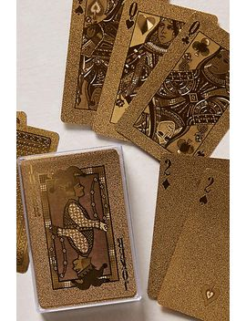 metallic-playing-cards by anthropologie