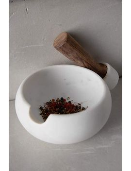 sempre-marble-mortar-&-pestle by anthropologie