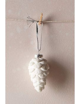 snowy-pinecone-ornament by anthropologie