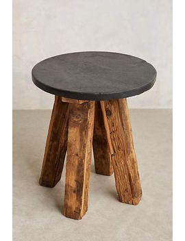 slate-top-side-table by anthropologie
